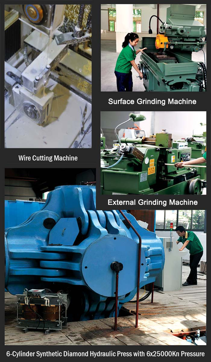 PDC cutters manufacturing facilities